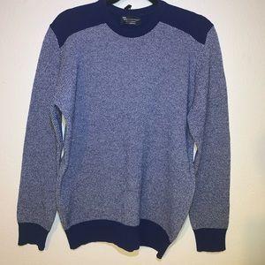 Hawick Knitwear Mens Lambswool Pullover HD3 Blue M